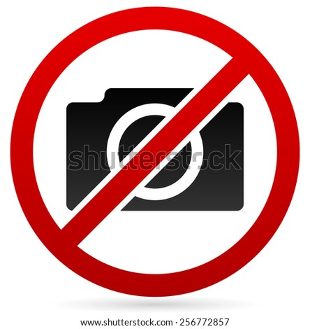 """No photography"" symbol  - stock vector"