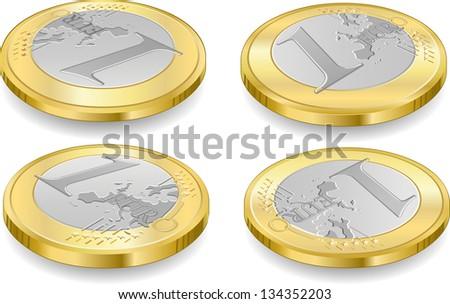 1 One Euro Coin Icon.Euro Coin Jpg.Euro Coin Jpeg.Euro Coin Picture.Euro Coin Image.Euro Coin Graphic.Euro Coin Art.Euro Coin Illustration. Drawing.Euro Coin Object.Euro Coin Vector.Euro Coin Eps.Ai. - stock vector