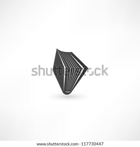 open book sign - stock vector