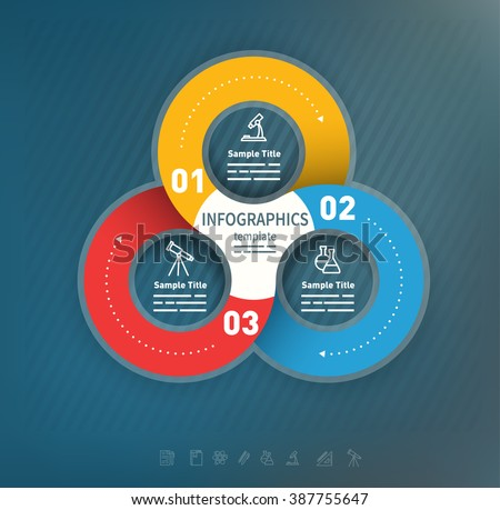 3 options abstract business presentation template used for brochures, diagrams, banners web designs, infographics - stock vector