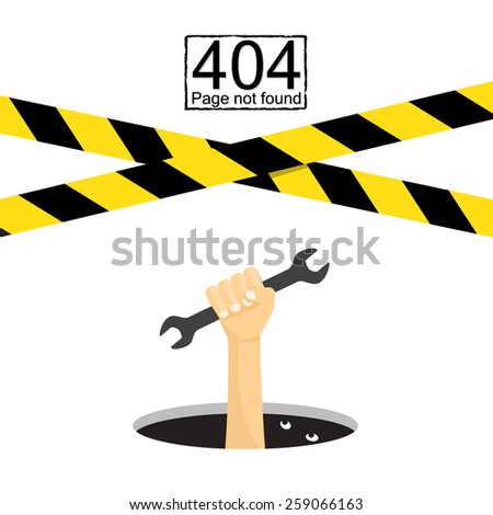 404 Page not found. closed - stock vector