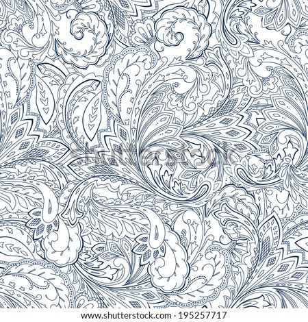 Paisley seamless background  - stock vector
