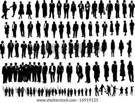 106 People black - stock vector