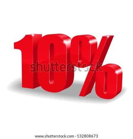 10 percent discount - stock vector