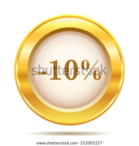 10 percent discount icon. Internet button on white background. EPS10 vector.  - stock vector