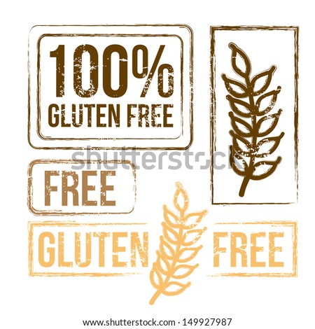 100 percent free gluten over white background vector illustration  - stock vector