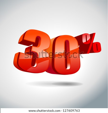 30 percent sale - stock vector