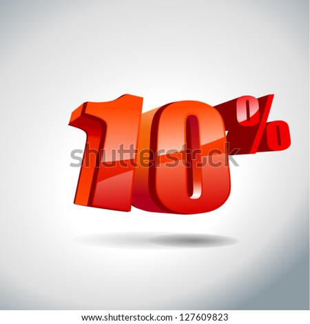 10 percent sale - stock vector