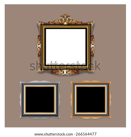 Picture Frame Photo Frame - stock vector