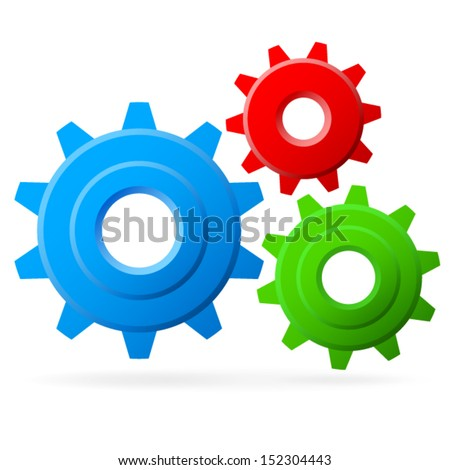 """""""Playful"""" looking Gears Composition vector - stock vector"""