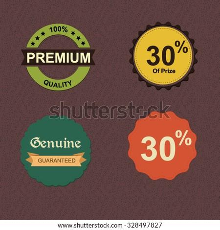 premium quality retro vintage labels collection - stock vector