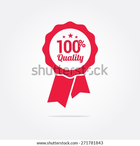 100% Quality Ribbon - stock vector