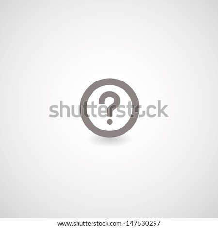 question mark symbol on gray background - stock vector