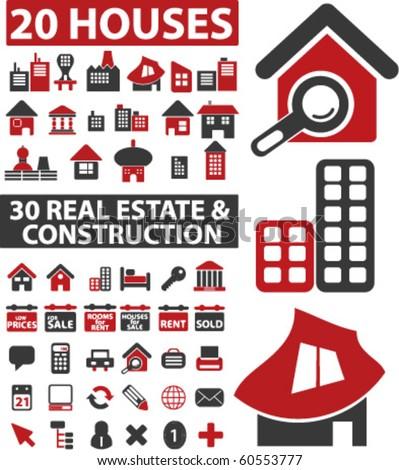 50 real estate & construction signs. vector - stock vector