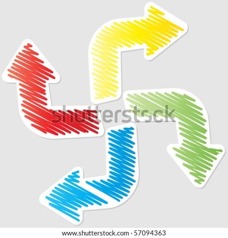 recycle arrows - stock vector