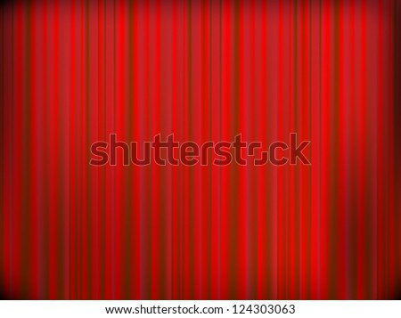 Red curtain of a classical theater background. - stock vector