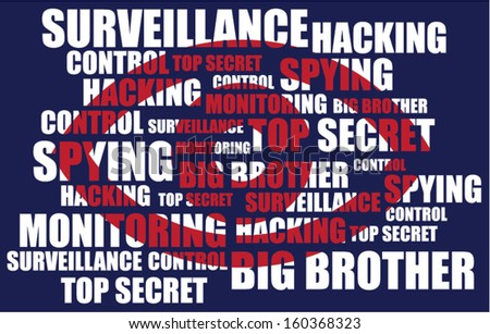 Red eye. Concept of spying - stock vector