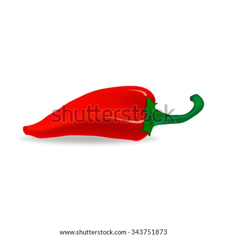 Red pepper - stock vector