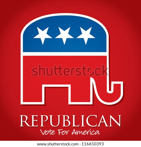 """Republican Vote For America"" election card/poster in vector format. - stock vector"