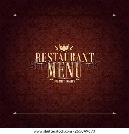Restaurant Menu design ,vintage card  - stock vector