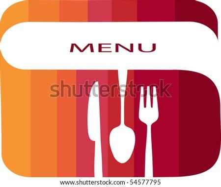 restaurant menu template with gradient colors - stock vector