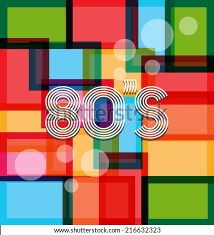 80's Art Background. Vector design - stock vector
