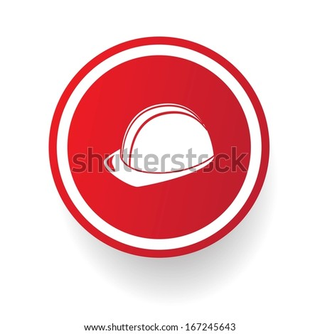 Safety,Hat symbol,vector - stock vector