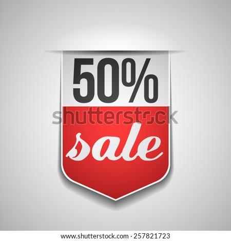 50% sale - stock vector