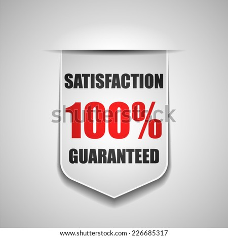 100% Satisfaction Guaranteed - stock vector