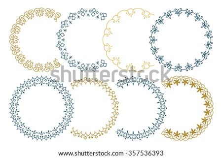 8 seamless border for decoration and design. (Brushes included). - stock vector