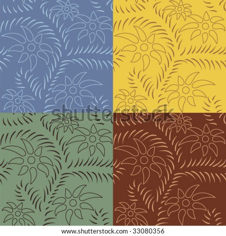 seamless pattern in different colors - stock vector