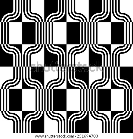 Seamless Stripe Pattern. Vector Monochrome Background - stock vector