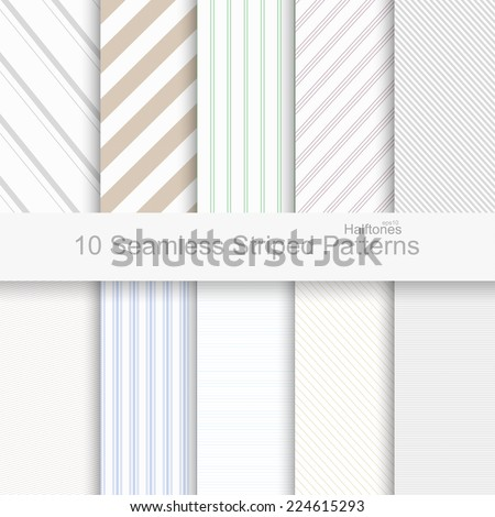 10 Seamless striped patterns - stock vector