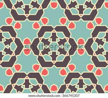 Seamless Wallpaper. Vintage Pattern. Retro Color Background  - stock vector
