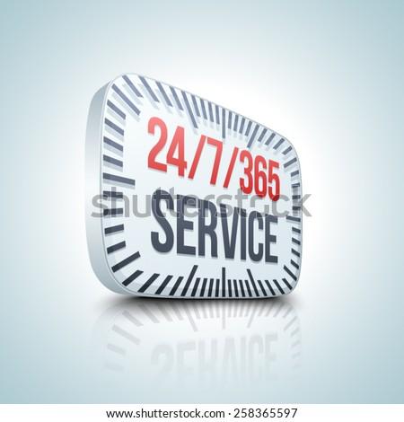 24/7/365 Service - stock vector