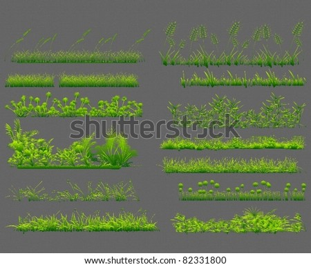 set of grass - stock vector