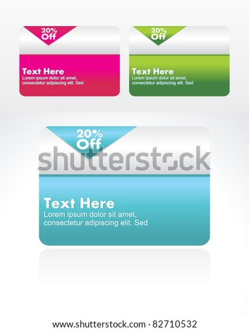 Set of vector banner collection for sale. - stock vector