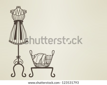 sewing machine sillhouette EPS10 - stock vector