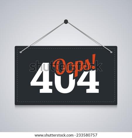404 sign for website server error. Vector illustration. - stock vector