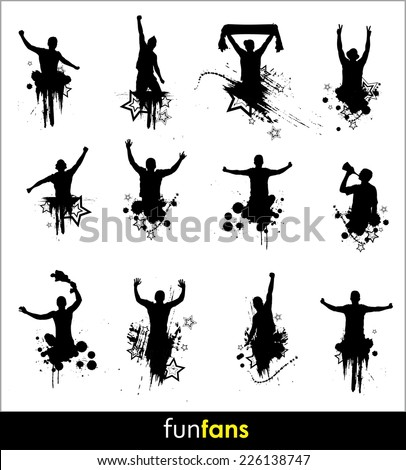 Silhouettes for advertising banner sports championships and concerts - stock vector