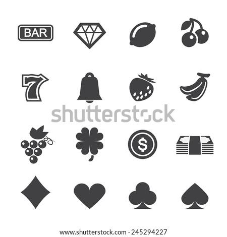 Slot Machine Icons - stock vector
