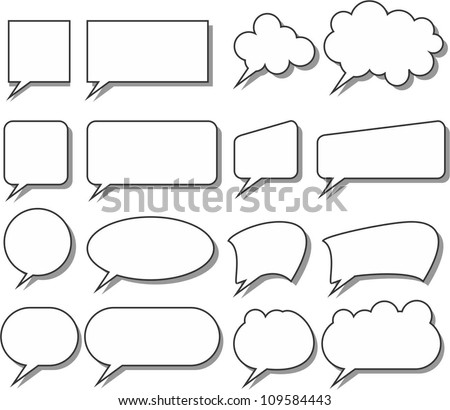speak bubbles - stock vector