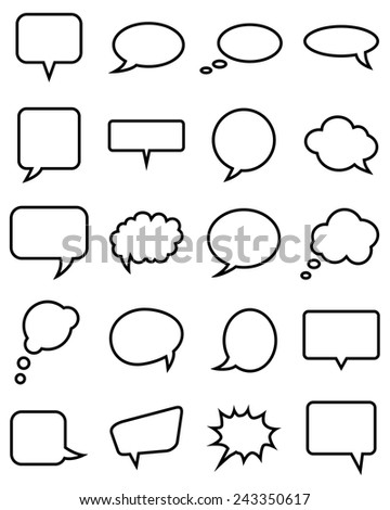 20 speech bubble collection. Vector illustration - stock vector