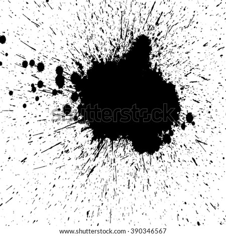 .Splat Ink.Grunge Black and White Distress Texture . Scratch Texture . Dirty Texture . Wall Background .Vector Illustration.Ink Vector.ink Brush.Splat Black.Ink Texture.Ink Blot.Ink Dry. - stock vector
