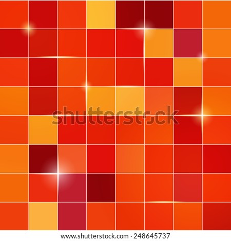 Square pixel mosaic background isolated - stock vector