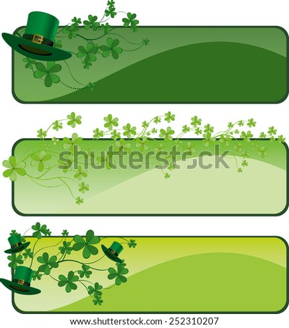 St. Patrick's Day's day banner design - stock vector