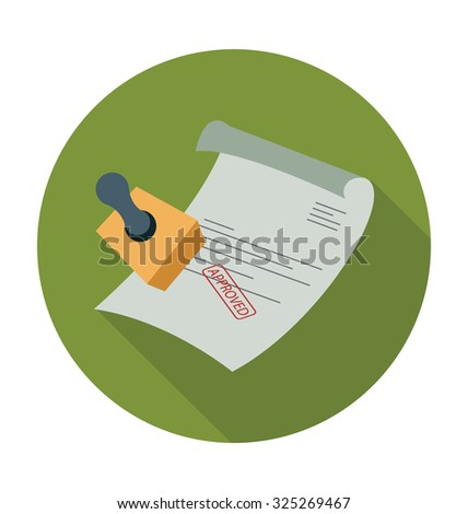 Stamped Documents Colored Vector Illustration  - stock vector