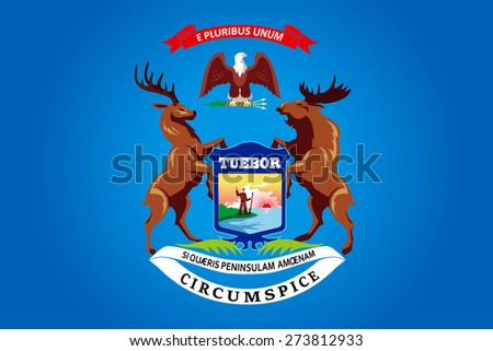 State of Michigan Flag  - stock vector