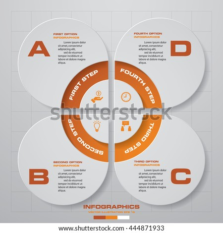 4 steps Infographic report template layout. Vector illustration EPS 10. - stock vector