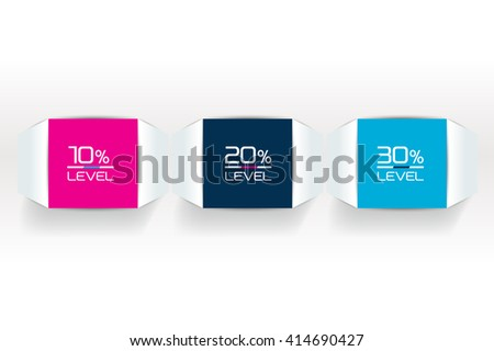 3 Steps  tutorial, chart, diagram. One, two, three concept. - stock vector